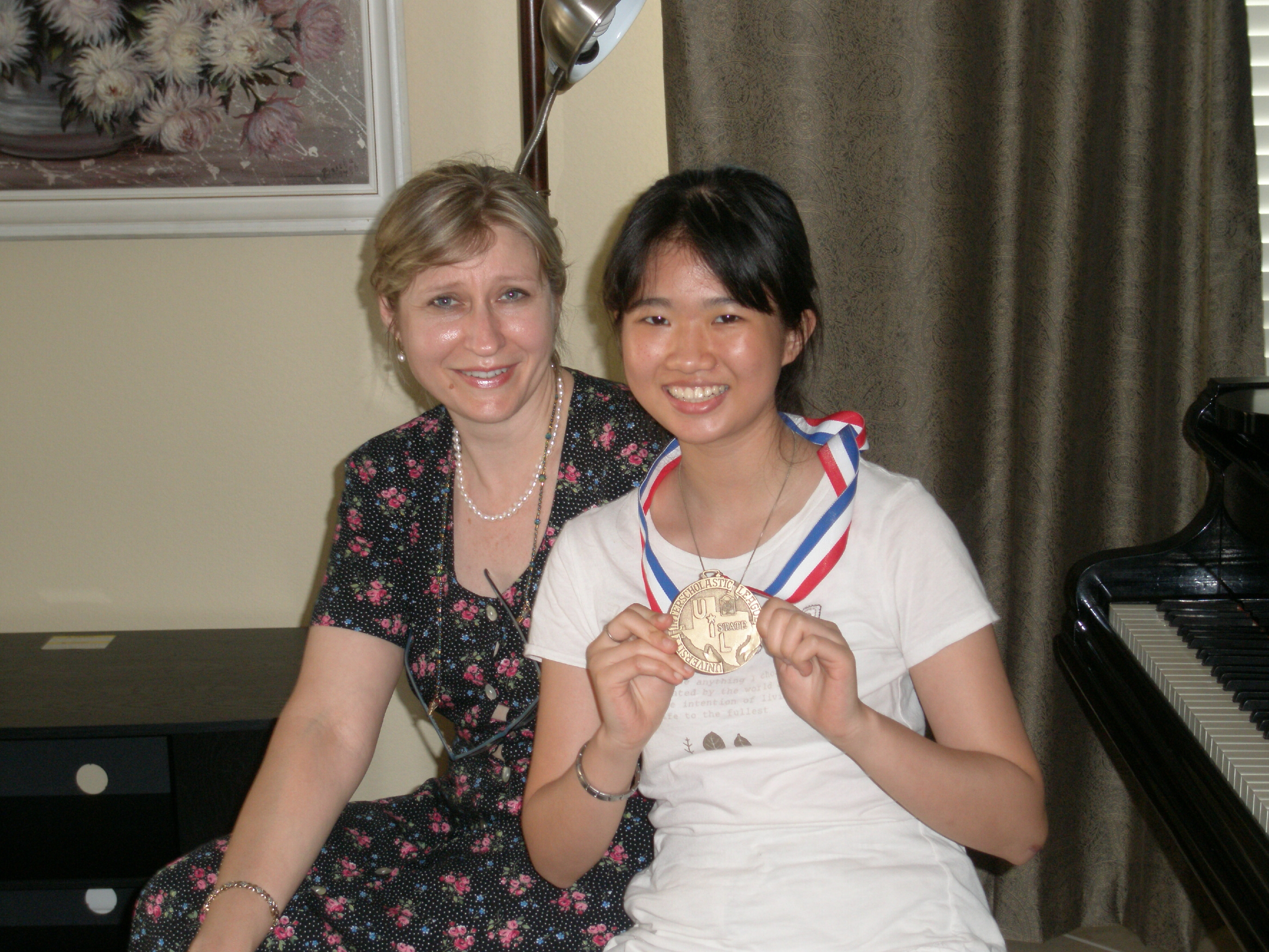 Melissa with UIL medal