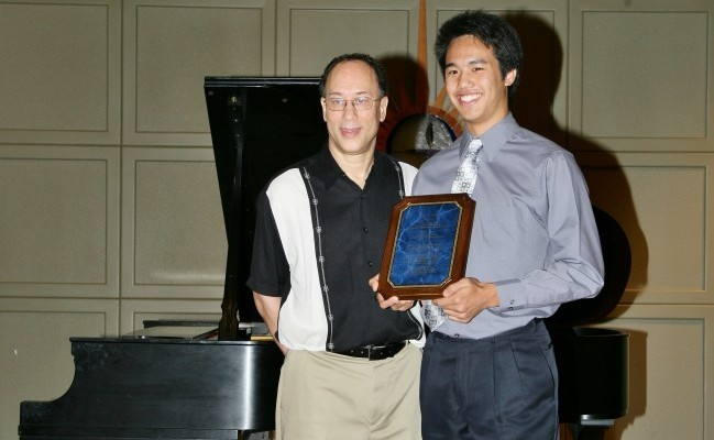 Dr. Hicks & 2012 senior grad Eric Wang