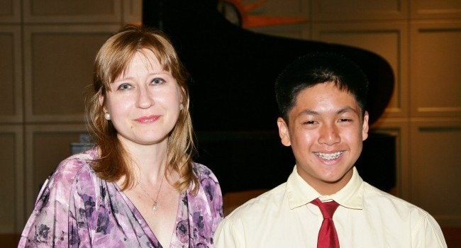 Ms Hicks and Liam at 2012 Spring Recital